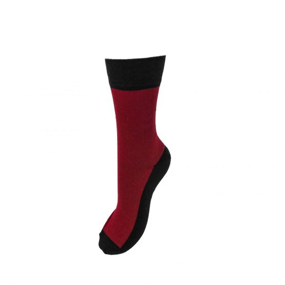 Combination of Two Burgundi & Black Socks