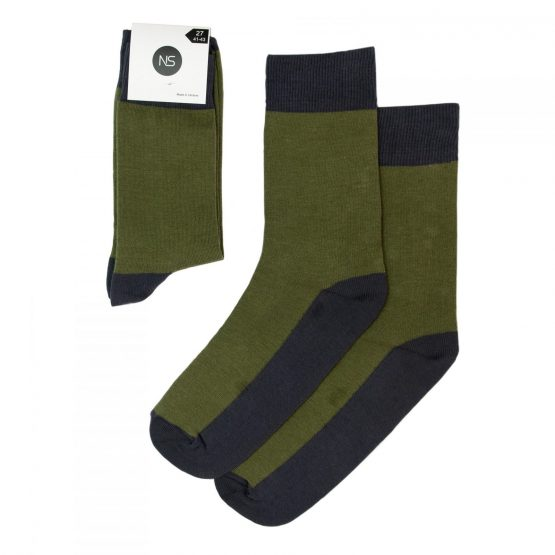 Combination of Two Khaki & Grey Socks