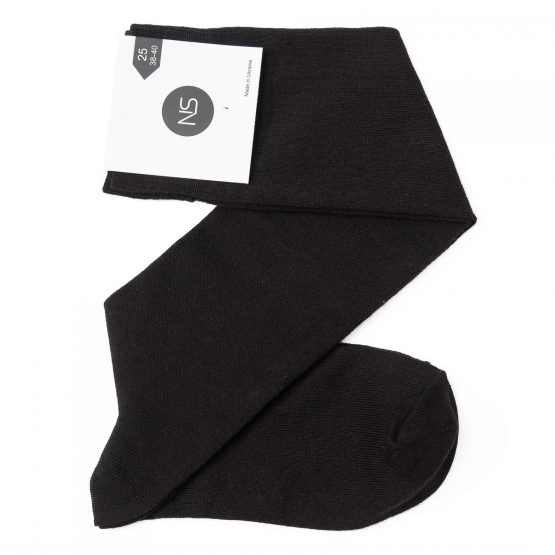 Dark Black Knee Socks