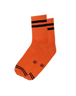 2 Stripes Orange Socks 1