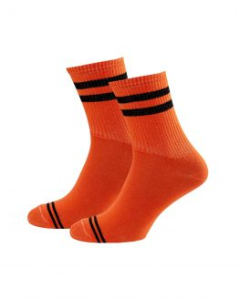 2 Stripes Orange Socks