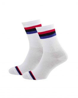 3 Stripes White Socks
