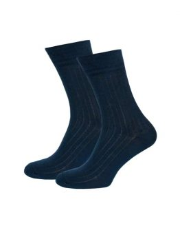 Deep Blue Stripe Socks