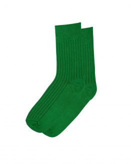 Green Stripe Socks 1